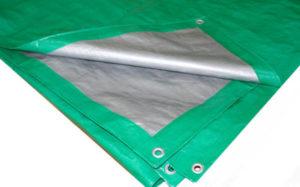Строительный тент-полог тарпаулин 2x10 (20м2) 90г/м2 светло-зеленый