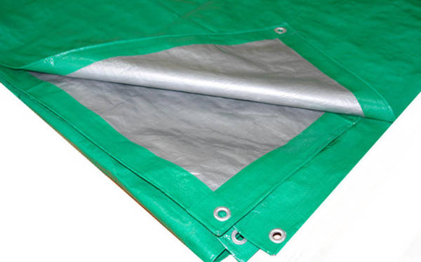 Строительный тент-полог тарпаулин 15x15 (225 м2) 90 г/м2 светло-зеленый