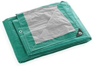 Строительный тент-полог тарпаулин 4x10м (40м2) 120г/м2 зеленый
