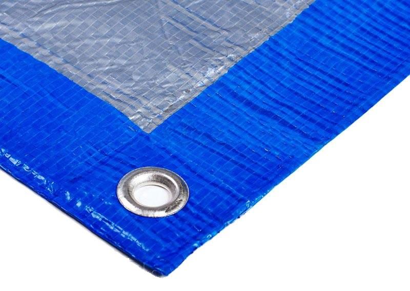 Строительный тент-полог тарпаулин 6x10м (60м2) 180г/м2 синий