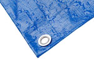 Строительный тент-полог тарпаулин 8x10м (80м2) 220г/м2 синий