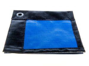 Строительный тент-полог тарпаулин 6x10м (60м2) 280г/м2 черный