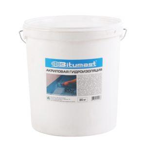 Акриловая гидроизоляция Bitumast 20 кг