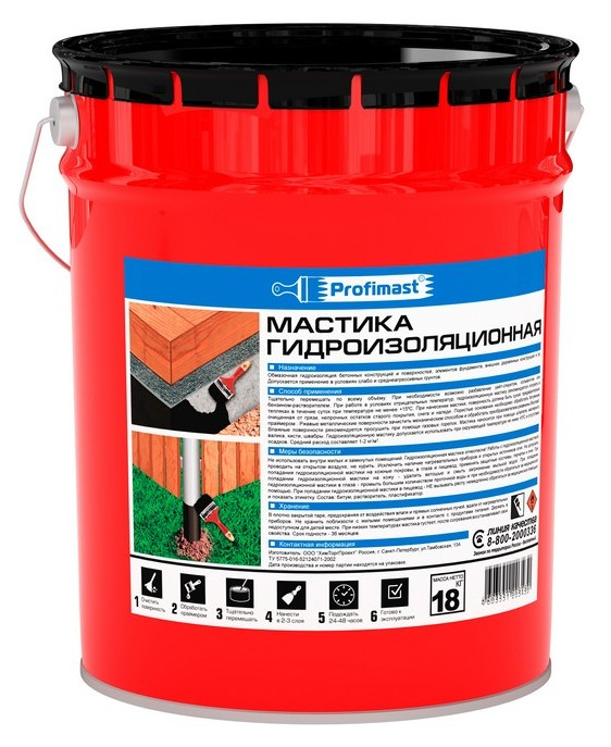 Мастика гидроизоляционная Profimast 21,5 л