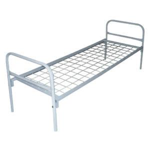 Металлическая кровать эконом для строителей