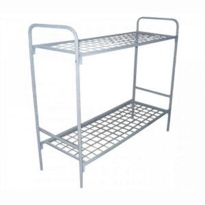 Металлическая кровать 2-ярусная эконом для строителей