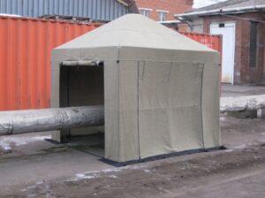 Купить огнеупорные палатки сварщика 3.0х3.0м (брезент ОП) оптом в Санкт-Петербурге от производителя, производство