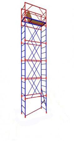 Строительная Вышка-тура переносная (2Х1) 4 секции+настил (без колес)