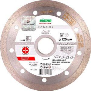 Купить диск алмазный 125x1,2x22 сплошн. Decor Slim DISTAR/керамогранит, керамическая плитка оптом в Санкт-Петербурге от производителя, производство