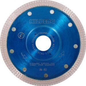 Купить диск алмазный 125x1,2x22 турбо HILBERG X-TYPE/керамогранит оптом в Санкт-Петербурге от производителя, производство