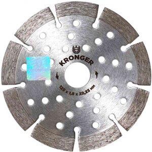 Купить диск алмазный 125x22 сегм. KRONGER/армированный бетон оптом в Санкт-Петербурге от производителя, производство