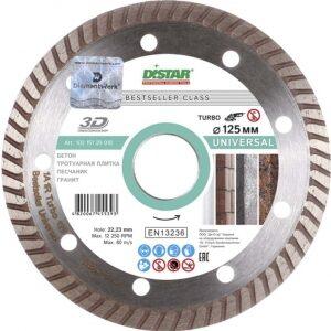 Купить диск алмазный 125x22 турбо Bestseller Universal DISTAR/бетон, гранит оптом в Санкт-Петербурге от производителя, производство