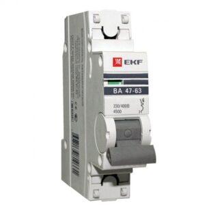 Купить автоматические выключатели 1П 10А EKF 4,5kA ВА 47-63 PROxima (C) оптом в Санкт-Петербурге от производителя, производство