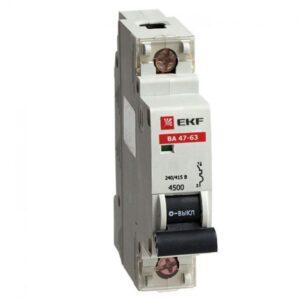 Купить автоматические выключатели 1п 16А 4,5кА ВА 47-29 EKF Basic (C) оптом в Санкт-Петербурге от производителя, производство