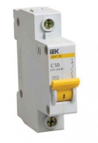 Купить автоматические выключатели 1п 20А ИЭК 4,5кА оптом в Санкт-Петербурге от производителя, производство