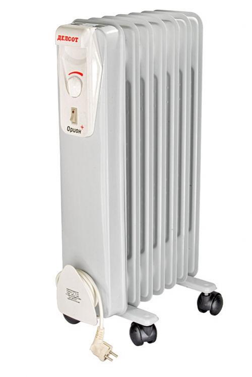 Купить радиатор масляный 1,25 кВт, 6 секций «Делсот» оптом в Санкт-Петербурге от производителя, производство