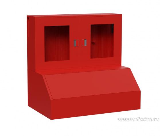 Купить щиты пожарные комбинированные «Модуль» (2 двери оргстекло) оптом в Санкт-Петербурге от производителя, производство