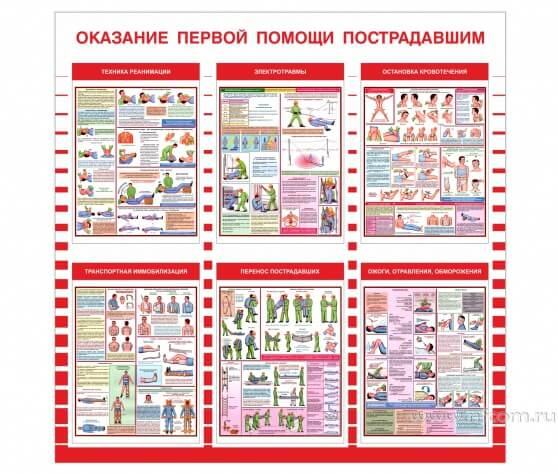 Купить стенд «Оказание первой помощи пострадавшим» оптом в Санкт-Петербурге от производителя, производство