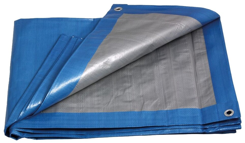 Купить строительный тент-полог тарпаулин 2x10м (20м2) 60г/м2 голубой оптом в Санкт-Петербурге от производителя, производство